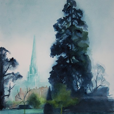 Chichester Cathedral - Watercolour - 27cm X 39cm (unframed) - by Heather Gray-Newton