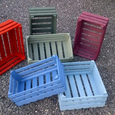 crates - wood - 40 x 15 x 25 cms - by Mark Porter