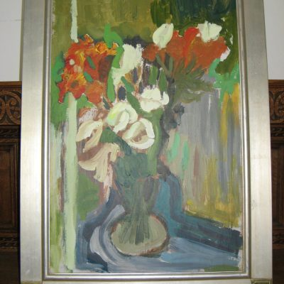Vase of Lillies - Acrylic on canvas - 26 inches X 35 inches - by John Clements