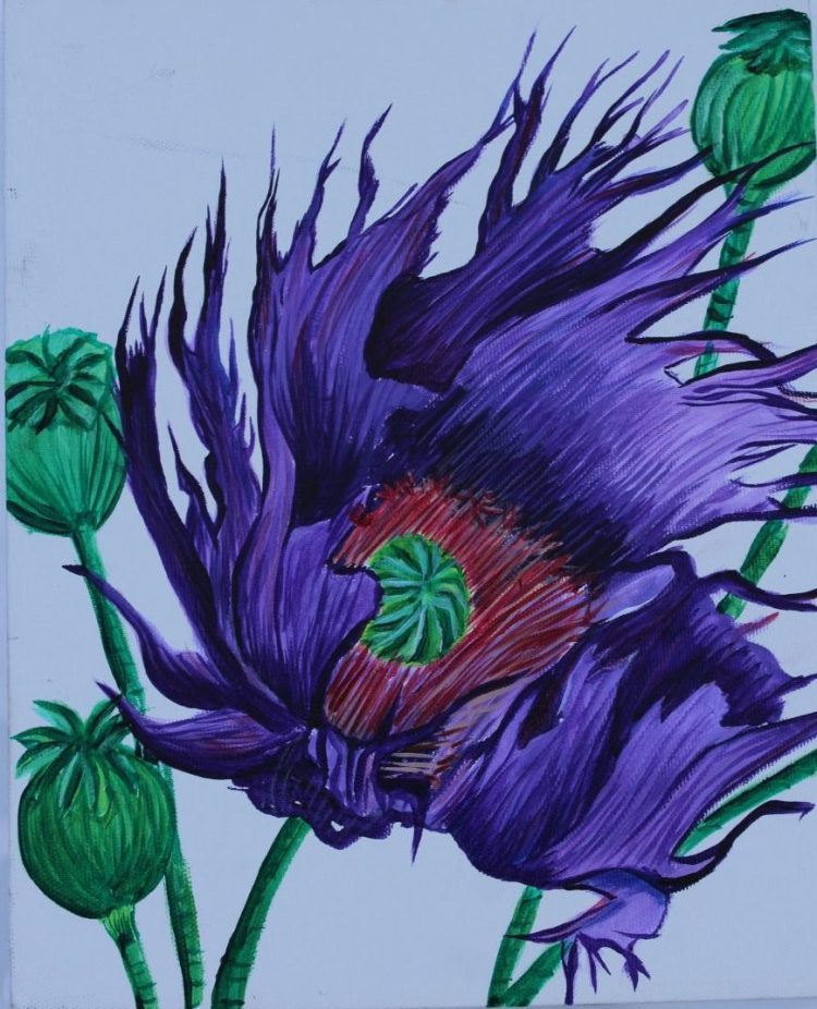 Purple Flower - Acrylic
