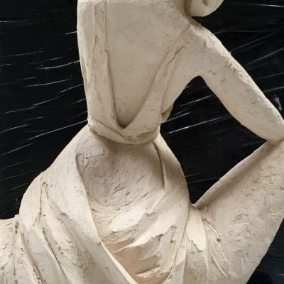 Art Deco - Fired clay - 20cm - by Alexandra Beale