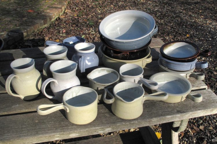 Dishes and jugs - stoneware
