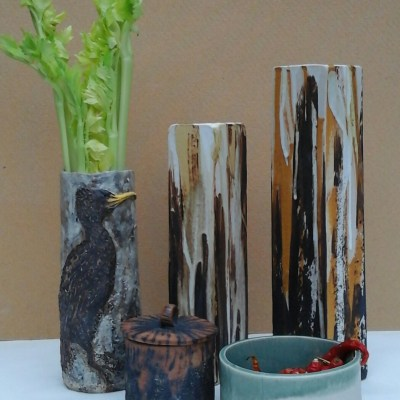 Selection of work - Stoneware pottery - Height from 10cm to 30cm - by Marise Rose