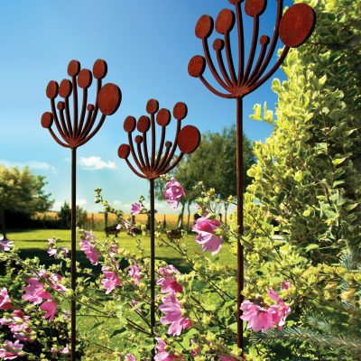 The Cow Parsley - Metal - 35 x 150cm - by Simon Hempsell