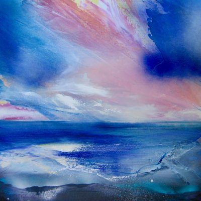 West wittering - Oil on Canvas - 100x100cm - by Shazia Mahmood