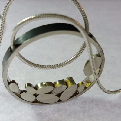 Silver necklace - silver - 3cm - by Gael Emmett