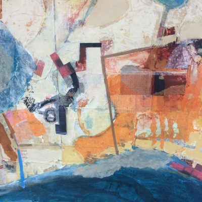 Detail of large work of Venice - Mixed media on canvas - 78 inches by  50 inches12 - by Min Maude