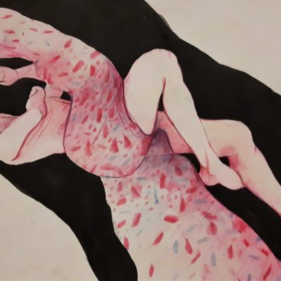 Life drawing - Coloured pencil and ink - 1014KB - by Pat Tempest