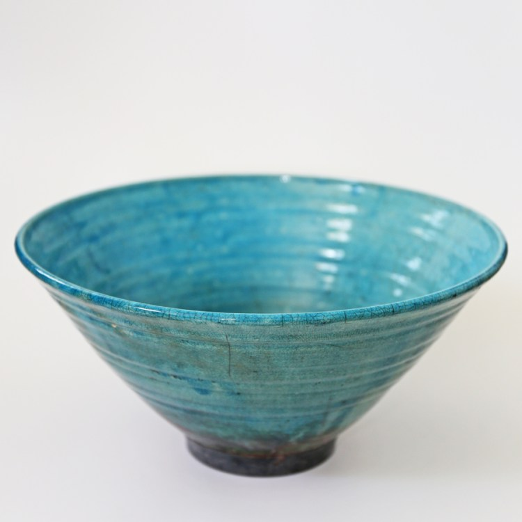 Large raku bowl - Ceramics