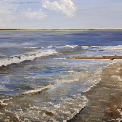 lindafoskett1Painting – Venue 12 – Tidal Wash Oil on Canvas 70 x 50 cms – Linda Foskett