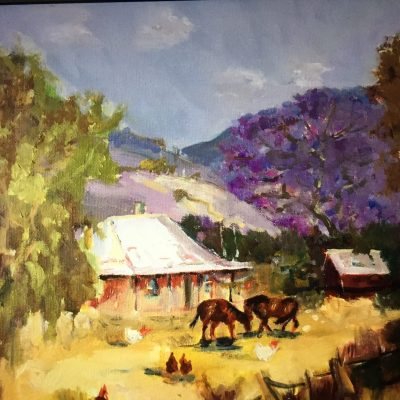 The Outback - Oil - 30 cm x 30 cm - by Patsy Parfitt