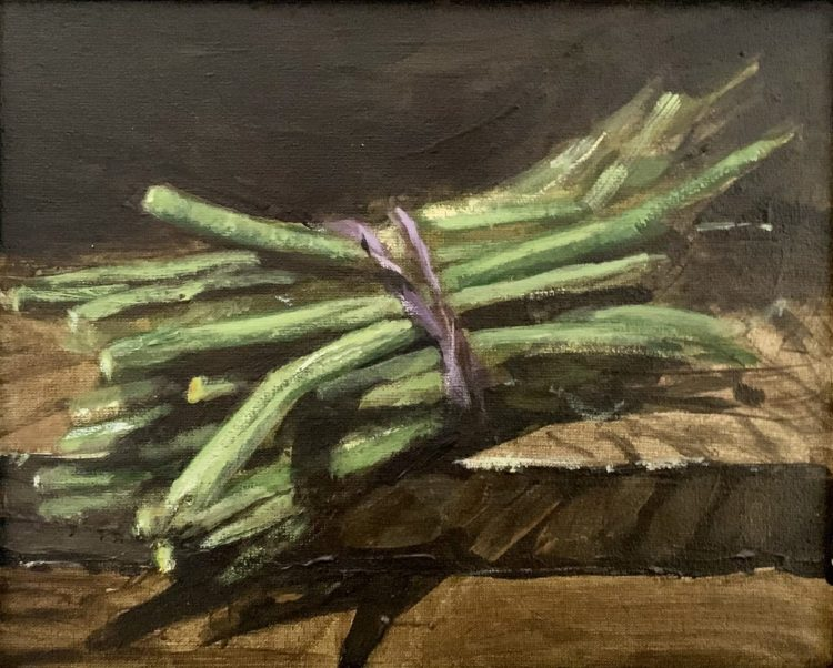 Green Beans - Oil on board