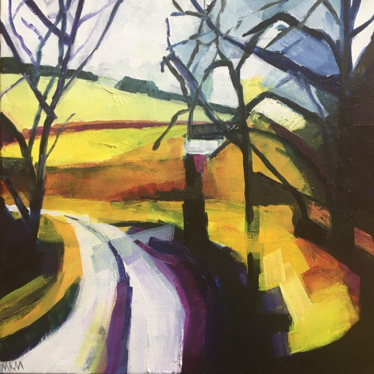 Winter near Charlton - Oil on Canvas