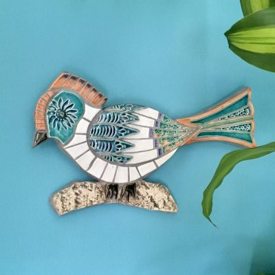 Mosaic Tropical Bird - Ceramic and Mosaic - 30cm x 20cm - by Tracey Lodge