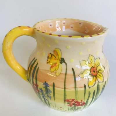 Spring Jug - Ceramic - 13.5 cm High - by Sarah Sykes