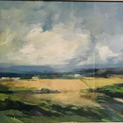 "View from the Top - Oil - 32"" x 24"" framed - by Liz Luffingham"