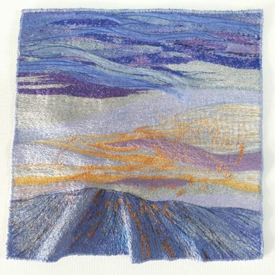 Twilight - Machine Embroidery - 16 in square - by Carol Naylor
