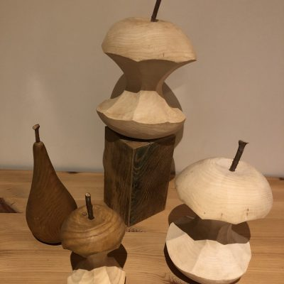 Fruit sculptures - hard and soft wood - 4