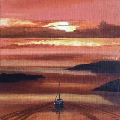 Into the Sunset - Oil on canvas - 230x300 - by Phil Reed