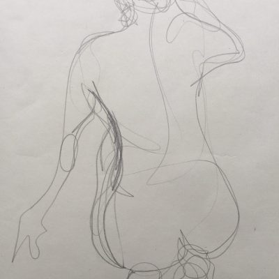 One minute study - Graphite - A2 - by Pat Tempest