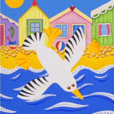 Selsey Seagull - Acrylic on canvas - 30 x 40cm - by Sue Hofman