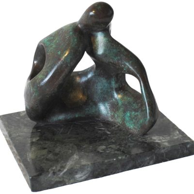 SPEAK TO US of LOVE - BRONZE - 21 inches high maquette - by Neil Lawson Baker