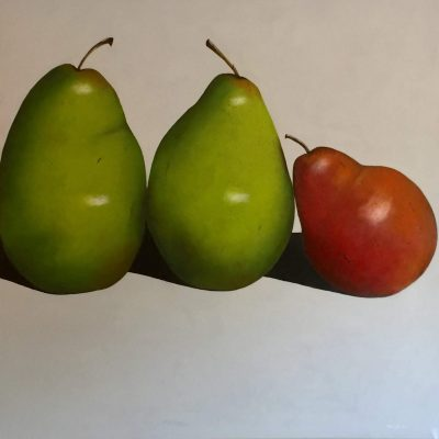 The Annoying Red one - Oils - 100cm x 100cm. - by Ellie Philpot