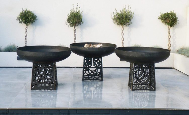 Trio of Fire Pits - Sculptural