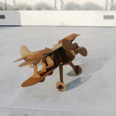 Biplane - Sculptural - Height: 520mm Width: 830mm Length: 750mm - by Mathew Fahy