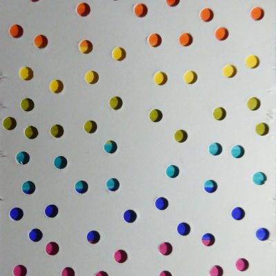 Rainbow Dots - Collage - 10 x 7 cm - by Otto Haigh