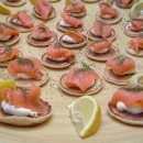 Salmon blinis at the Boxgrove Music Festival