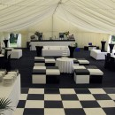 Black and White Wedding Marquee