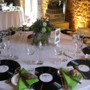 Table arrangement at Grittenham Barn Wedding - June 2012