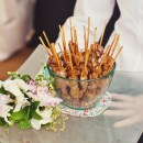Satay Skewers at Duncton Mill Wedding