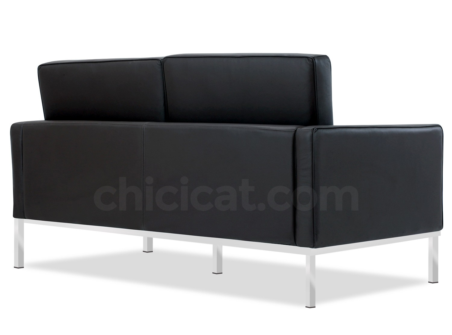 Florence Knoll Sofa 2 Seater Leather Platinum Replica