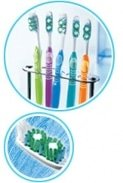 An up-close photo of the bristles of an Oral-B toothbrush: Oral-B Advantage Artica