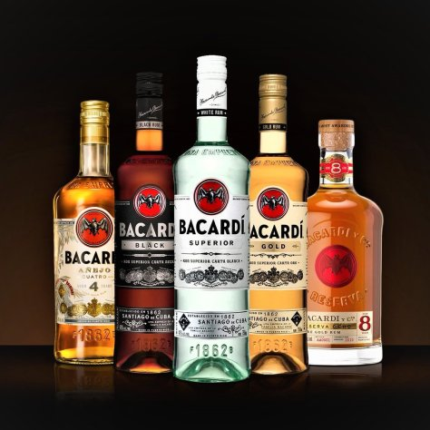types of Bacardi rums
