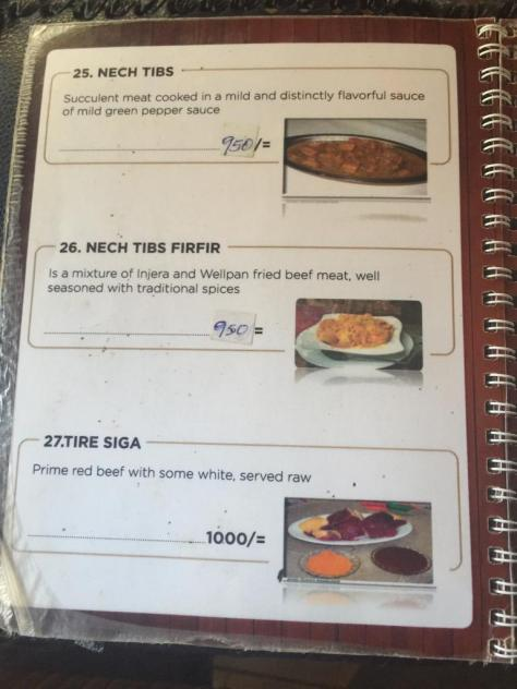 Habesha Restaurant Nairobi Menu - page 9