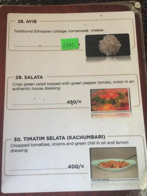 Habesha Restaurant Nairobi Menu - page 10