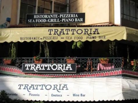 Facade of Trattoria, an Italian Restaurant in Nairobi