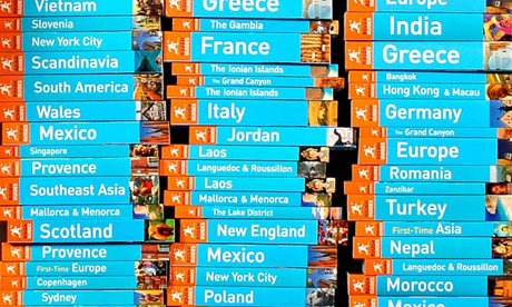 Stacks of Rough Guide Travel Guides