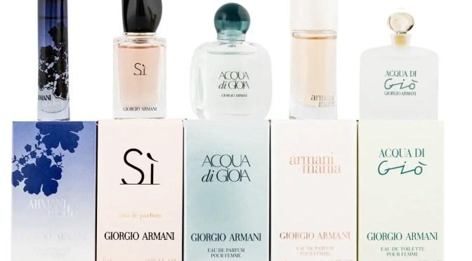 Armani perfuumes for women including Acqua di Gio