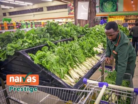 Fresh Vegetables at Naivas Prestie