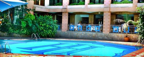 Swimming pool at the Impala Hotel, Arusha