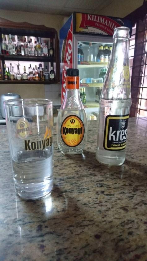 Konyagi and Krest Tonic water