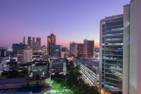 Downtown Dar es Salaam by night