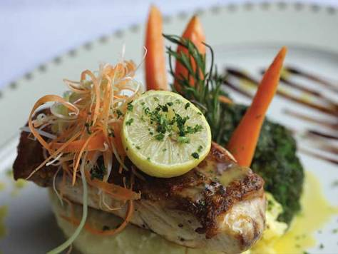 Fish served at Karambezi Café Seacliff Hotel