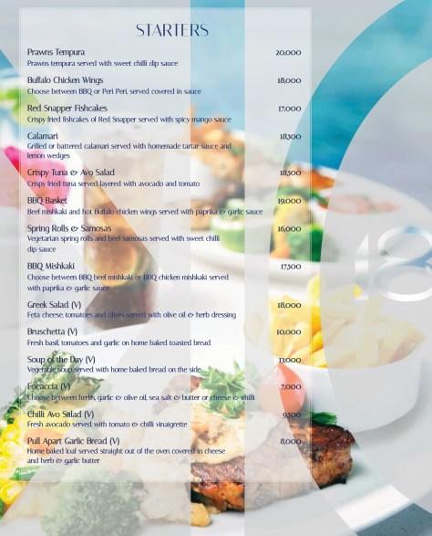 karambezi menu: starters