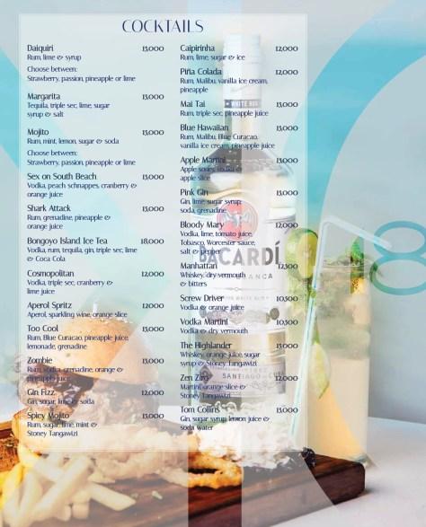 Karambezi drinks menu: Cocktails