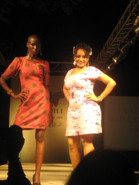 Farha Sultan with Model